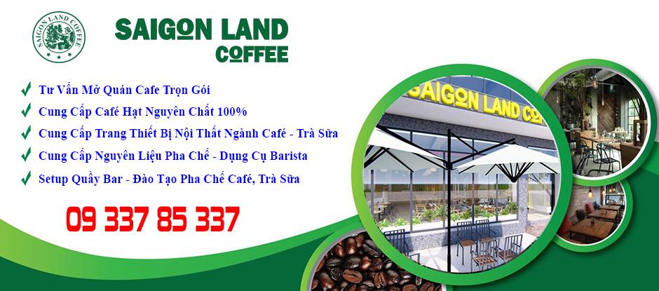 saigon land coffee tư vấn thiết kế thi công mở quán cafe trọn gói